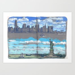 Arrivée à New-York Art Print