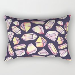 Geometrical colorful watercolor abstract diamond pattern Rectangular Pillow