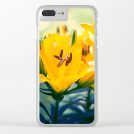 Summer Lilies II Clear iPhone Case