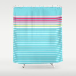 Vintage T-shirt No9 Shower Curtain