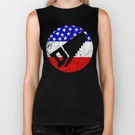 American Flag Carpenter Biker Tank