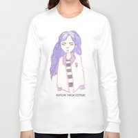 sisters Long Sleeve T-shirts featuring sisters by Megan Rhiannon