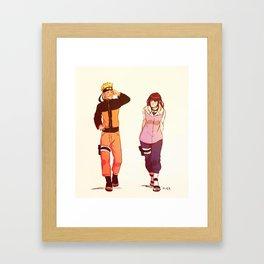 NaruHina Framed Art Print