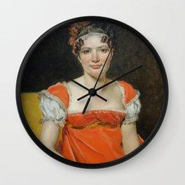 Jacques-Louis David - Laure-Emilie-Felicite David, La Baronne Meunier Wall Clock