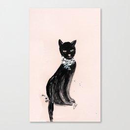 Spoiled Kitty Lifestyle Illustration Canvas Print