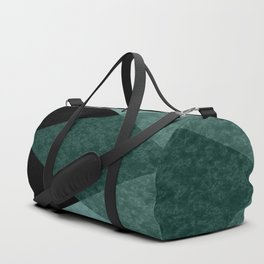 Marble turquoise green triangles Duffle Bag