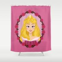 aurora Shower Curtains featuring Aurora by Joey Ellson