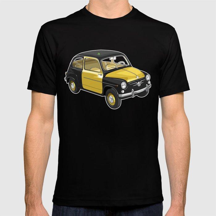 Barcelona Vintage Taxi T-shirt