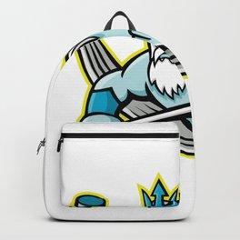 Poseidon Ice Hockey Sports Mascot Backpack