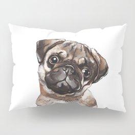 The Melancholy Pug Pillow Sham