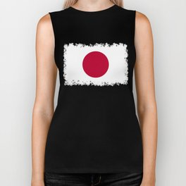 Flag of Japan, High Quality Image Biker Tank