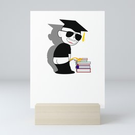 A Cool Student Pees On Books Mini Art Print