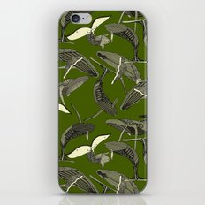 just whales green iPhone & iPod Skin