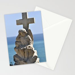 Italian Angel with Cross Stationery Cards