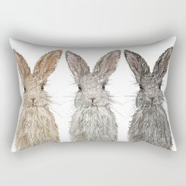 Triple Bunnies Rectangular Pillow