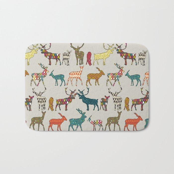 patterned deer stone Bath Mat by sharonturner | Society6