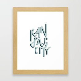 Kansas City Shadow Framed Art Print