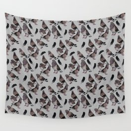 Pigeon Pattern 2 Wall Tapestry