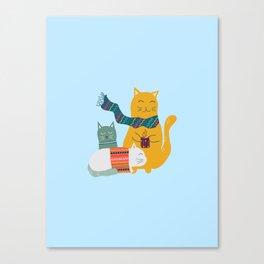 Cat cuddle -Hand Draw Canvas Print