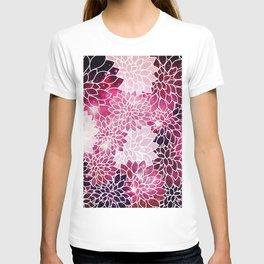 Space Dahlias Magenta T-shirt