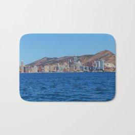 Benidorm city and sea Bath Mat