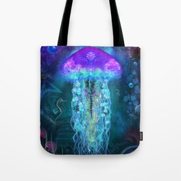 Luminescent Jellyfish Tote Bag