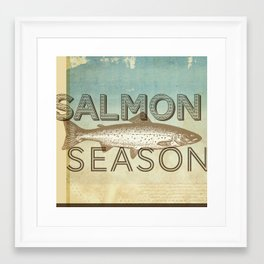 Salmon Season Framed Art Print