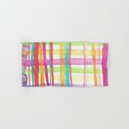 Rainbow Mesh Watercolor Hand & Bath Towel