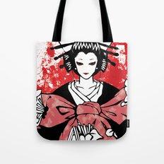 GEISHA - Japan | Vector | Manga | Blood | Kimono | Butterfly | Kabuki | Anime | Vector Tote Bag