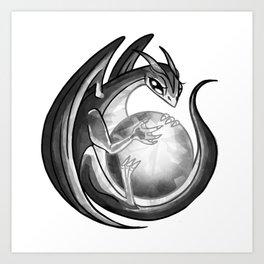 Scrying Dragon Art Print