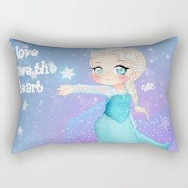 The Love, thaws the heart Rectangular Pillow