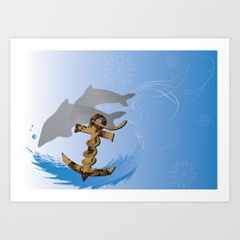 Old Rustic Anchor Art Print