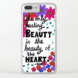 The Only Lasting Beauty Clear iPhone Case