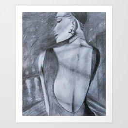Lady by the Lake Art Print