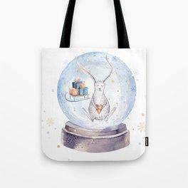 Christmas bunny #3 Tote Bag