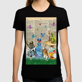 Alice In Wonderland Dictionary Page Celebration T-shirt