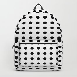 Black and white dots pattern Backpack