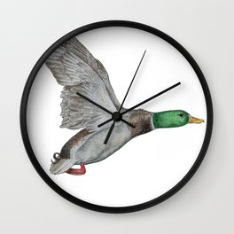 Flying Duck Wall Clock
