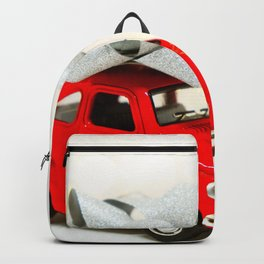 Red Car Christmas Present (Color) Backpack