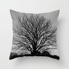 richmond park- b-w Throw Pillow