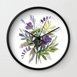 5. Flower Painting, Watercolor Flowers, Flower Art, Watercolor Flower Painting, Floral, Home Office Wall Clock