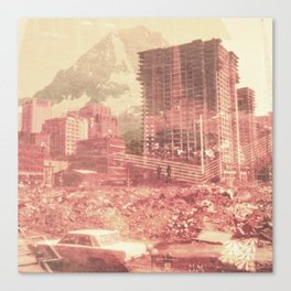 Crumble Mountain Canvas Print