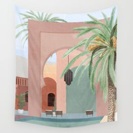 Moroccan Pool Wall Tapestry
