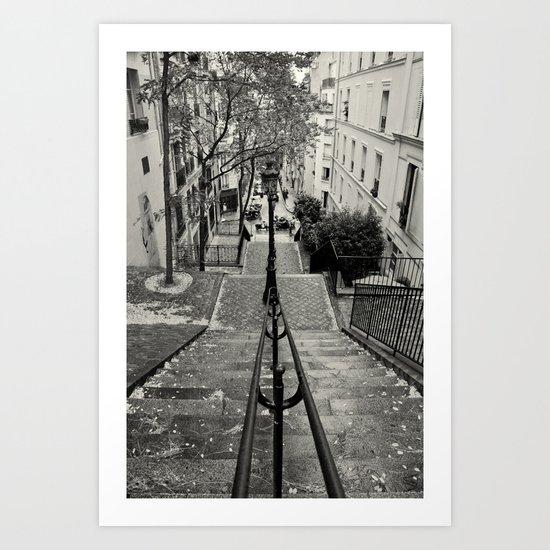 Romantic Paris Art Print