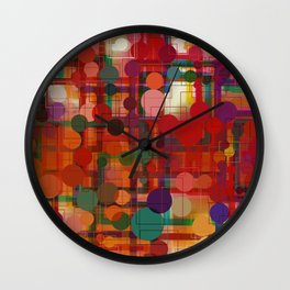 Festival of Lights Connect the Dots Abstract Wall Clock
