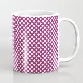 Festival Fuchsia and White Polka Dots Coffee Mug