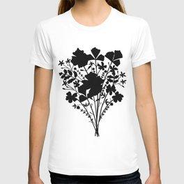 Flower Bouquet Silhouette T-shirt