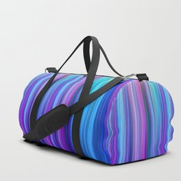 Abstract Purple and Teal Gradient Stripes Pattern Duffle Bag