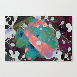 Abstract Acidic Flower Canvas Print