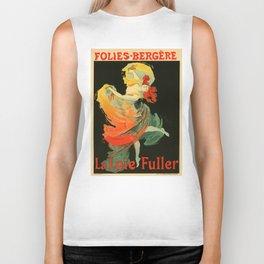 Belle Epoque vintage poster, Folies Bergere, La Loie Fuller Biker Tank